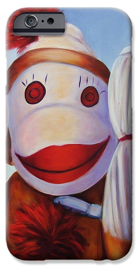 Children IPhone 6 Case featuring the painting Hear No Bad Stuff by Shannon Grissom