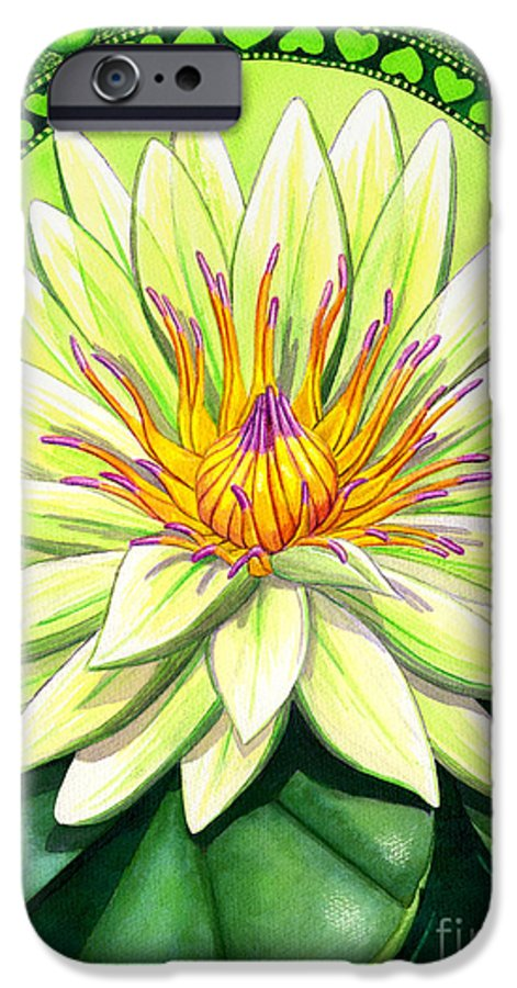 Heart IPhone 6 Case featuring the painting Heart Chakra by Catherine G McElroy