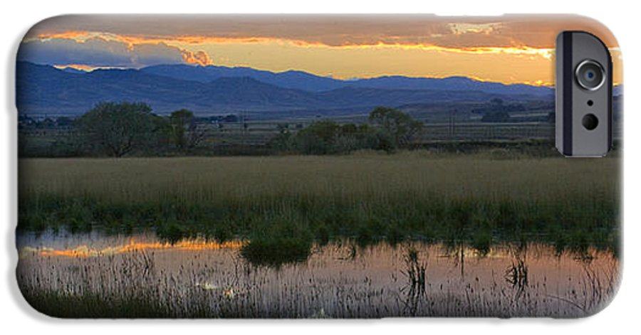 Canal IPhone 6 Case featuring the photograph Heart Mountain Sunset by Idaho Scenic Images Linda Lantzy