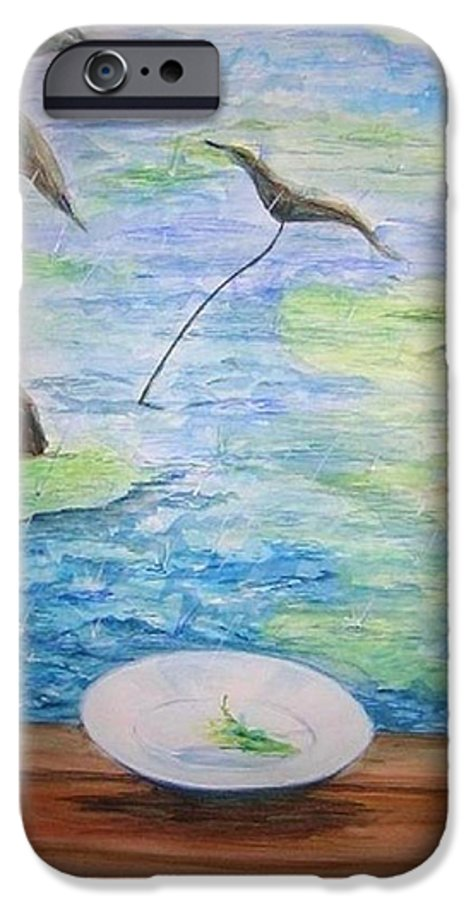 Feng Shui Study IPhone 6 Case featuring the painting Heaven Sent Gentle Rain by Lizzy Forrester