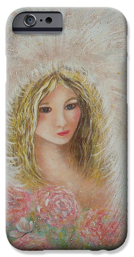 Angel IPhone 6 Case featuring the painting Heavenly Angel by Natalie Holland