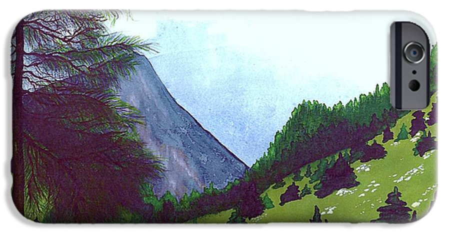 Original Painting IPhone 6 Case featuring the painting Heidi's Place by Patricia Griffin Brett