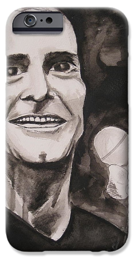 Author Black Darkestartist Flag Henry Ink Musician Panting Portrait Rollins Spoken Watercolor Darkest Artist IPhone 6 Case featuring the painting Henry Rollins by Darkest Artist