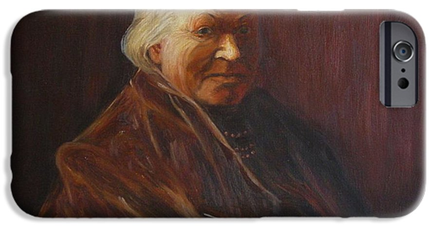 Woman IPhone 6 Case featuring the painting Herbert Abrams Mother by Quwatha Valentine