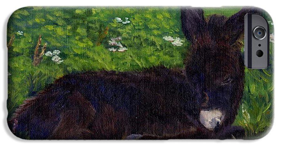 Donkey IPhone 6 Case featuring the painting Hercules by Sharon E Allen