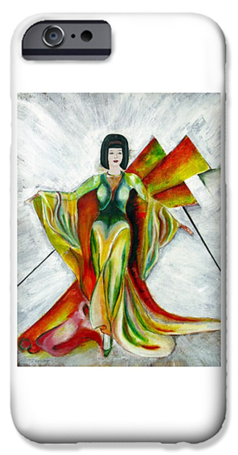 Dress IPhone 6 Case featuring the painting Here Comes The Sun by Tom Conway