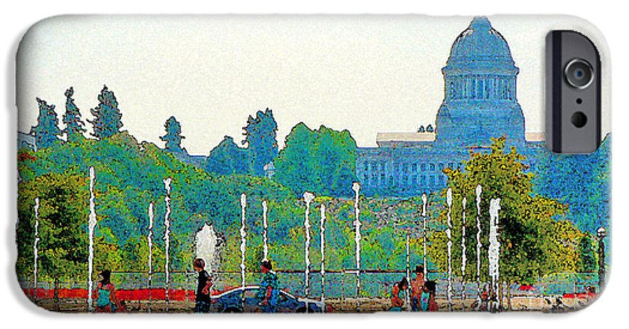 Park IPhone 6 Case featuring the photograph Heritage Park Fountain by Larry Keahey