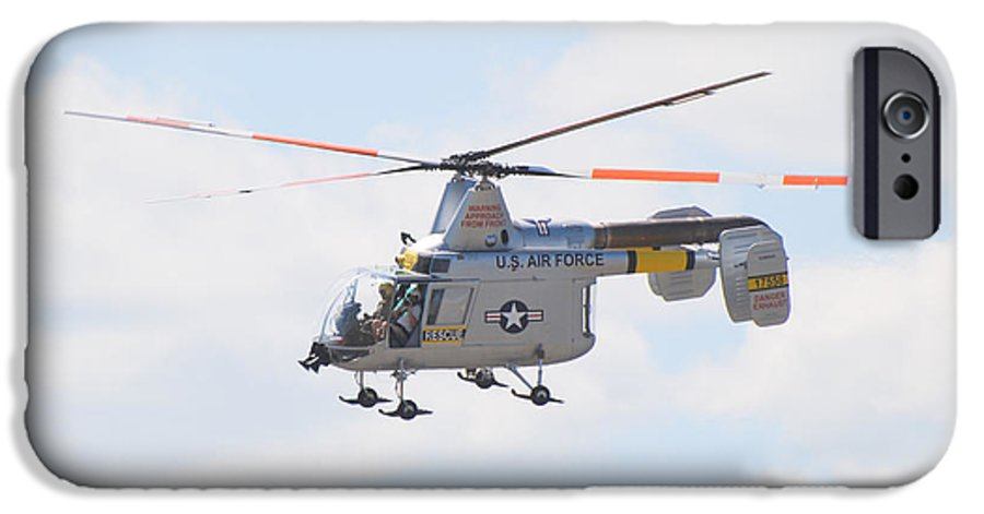 Helicopter IPhone 6 Case featuring the photograph Hh-43b Huskie by Larry Keahey