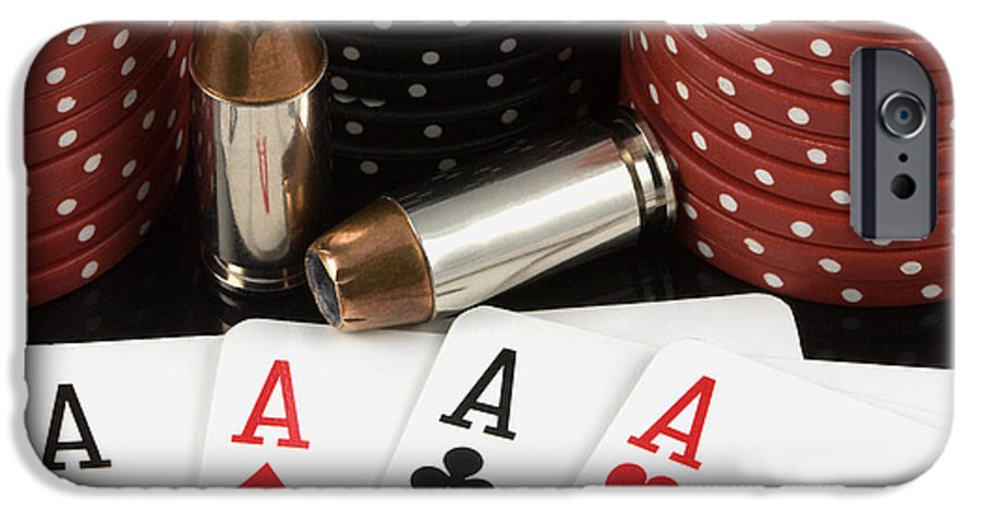 Aces IPhone 6 Case featuring the photograph High Stakes Poker by Al Mueller