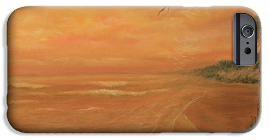 Beach; Ocean; Palm Trees; Water IPhone 6 Case featuring the painting High Tide by Ben Kiger