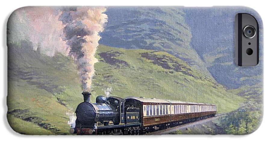 Steam IPhone 6 Case featuring the painting Highland Steam by Richard Picton