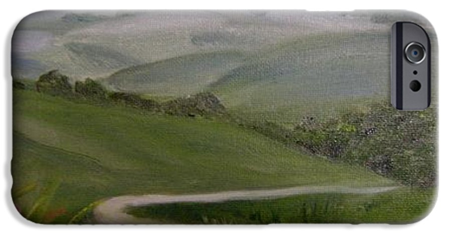 Pathway IPhone 6 Case featuring the painting Highway Into The Hills by Toni Berry