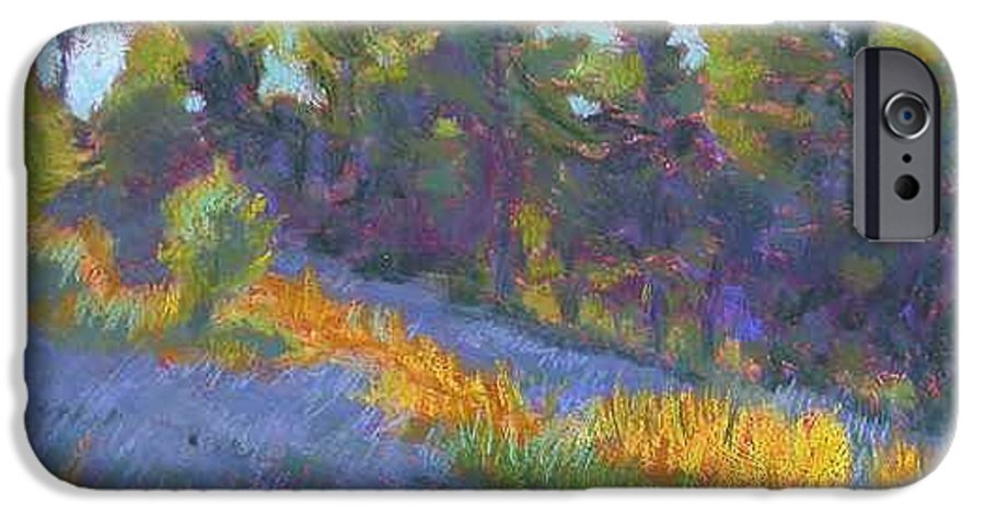 View Of Hillside And Evening Shadows IPhone 6 Case featuring the painting Hillside Shadows by Julie Mayser
