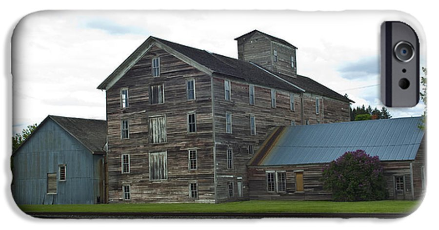 Historical IPhone 6 Case featuring the photograph Historical Barron Wheat Flour Mill In Oakesdale Wa by Louise Magno