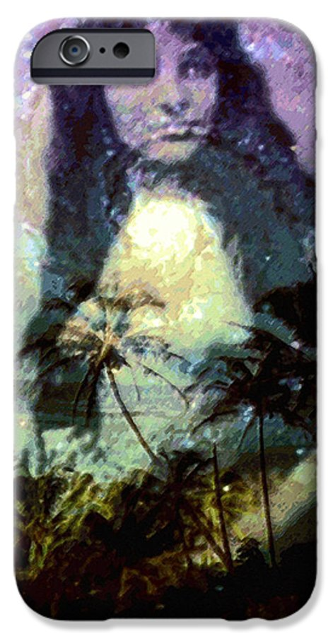 Tropical Interior Design IPhone 6 Case featuring the photograph Ho Omana O by Kenneth Grzesik