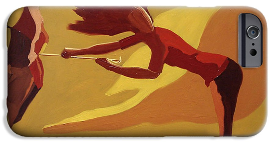 Woman IPhone 6 Case featuring the painting Hold On by Barbara Andolsek