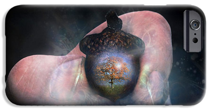 Hold IPhone 6 Case featuring the digital art Hold On To Your Future by Carrie Jackson