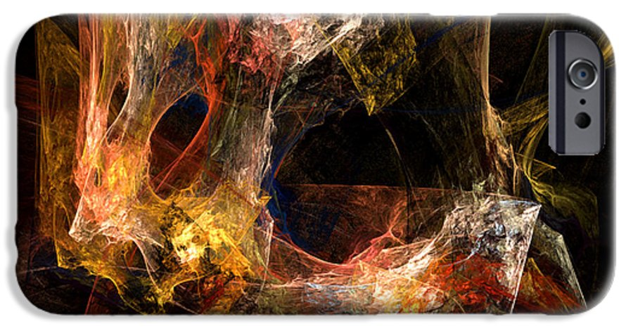 Abstract IPhone 6 Case featuring the digital art Holes by Ruth Palmer