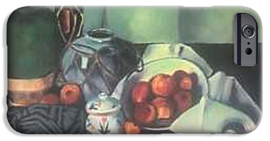 Still Life With Apples IPhone 6 Case featuring the painting Homage To Cezanne by Steven Casey