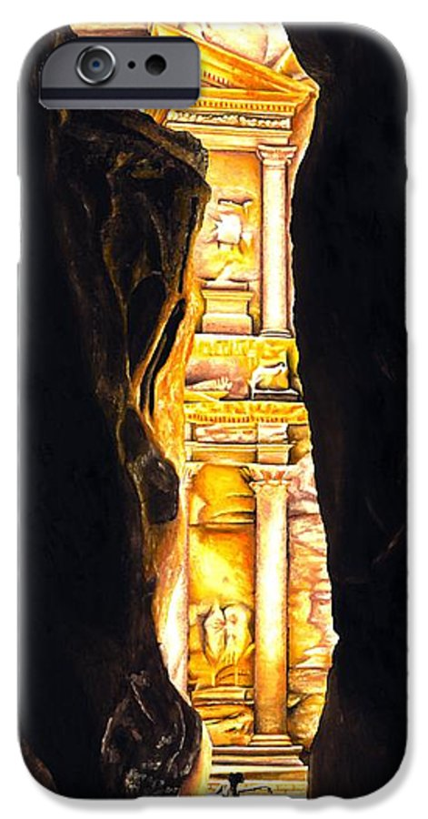 Bellydancer IPhone 6 Case featuring the painting Homage To Petra by Richard Young