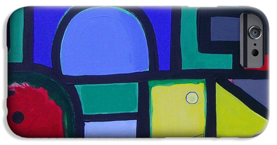 Street IPhone 6 Case featuring the painting Hommage A Mark Rothko by Michael Puya