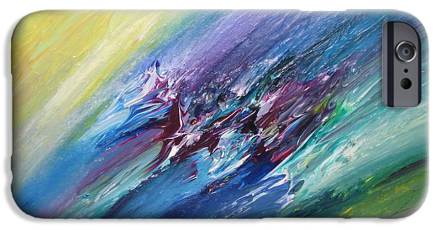 Abstract IPhone 6 Case featuring the painting Honeymoon Bliss - C by Brenda Basham Dothage