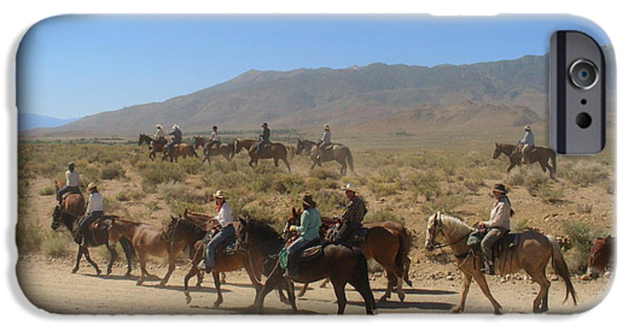 Horses IPhone 6 Case featuring the photograph Horse Drive From June Lake To Bishop California by Christine Till