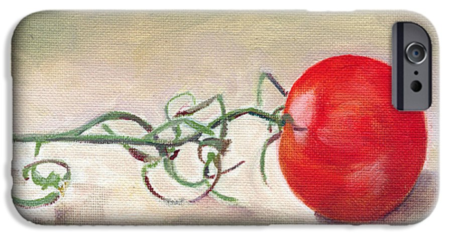Food IPhone 6 Case featuring the painting Hot-house Tomato by Sarah Lynch
