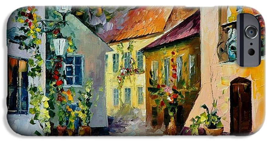 Landscape IPhone 6 Case featuring the painting Hot Noon Original Oil Painting by Leonid Afremov