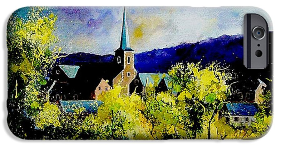 Poppies IPhone 6 Case featuring the painting Hour Village Belgium by Pol Ledent