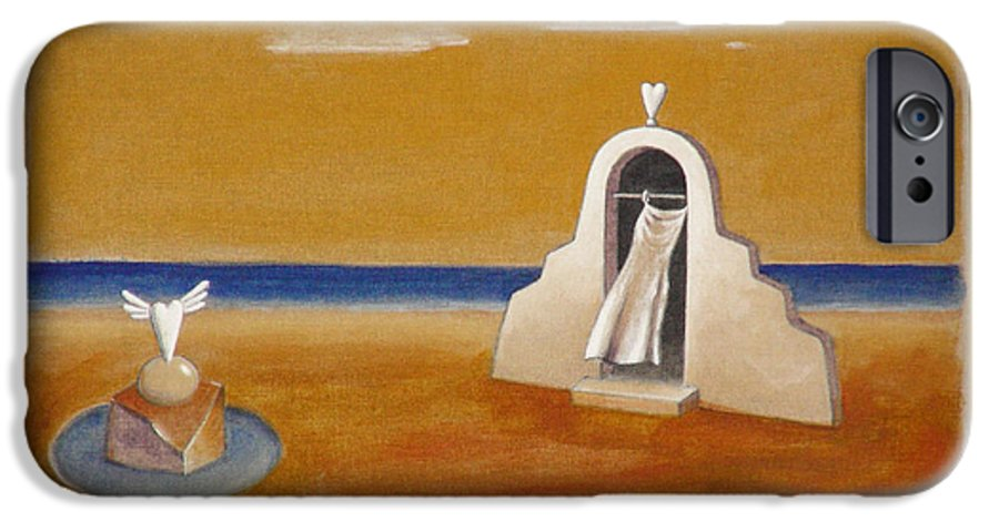 Chirico IPhone 6 Case featuring the painting House Of Eros by Dimitris Milionis