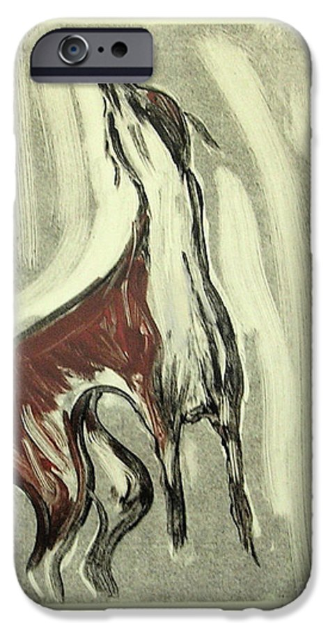 Monotype IPhone 6 Case featuring the mixed media Howling For Joy by Cori Solomon