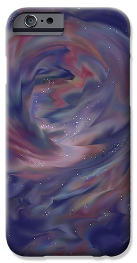 Starscape IPhone 6 Case featuring the painting Hubble One by Anne Norskog