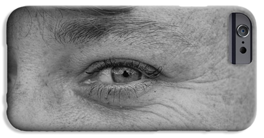 Black And White IPhone 6 Case featuring the photograph I See You by Rob Hans