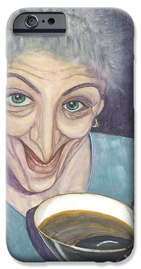 Portrait IPhone 6 Case featuring the painting I Would Like To Try This One by Olga Alexeeva