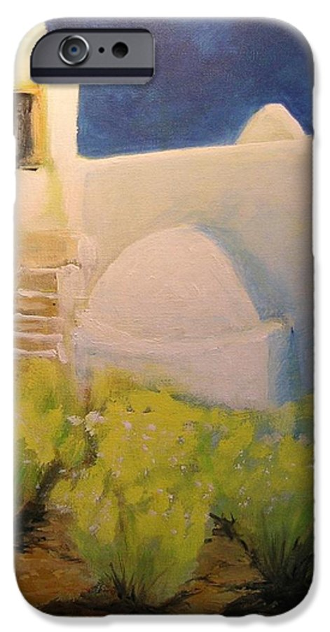 Landscape IPhone 6 Case featuring the painting Ibicencan Country House by Lizzy Forrester