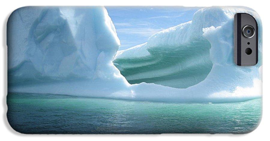 Photograph Iceberg Ocean Summer Newfoundland IPhone 6 Case featuring the photograph Iceberg by Seon-Jeong Kim