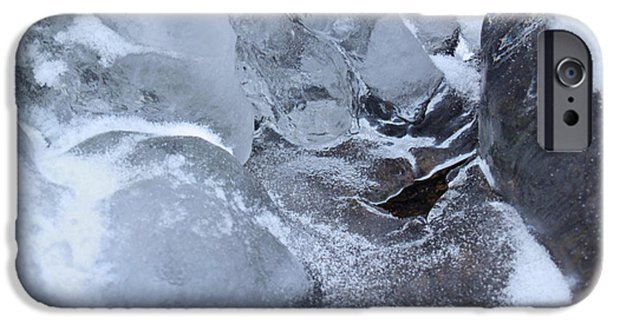 Snow IPhone 6 Case featuring the photograph Icy Creek Forms In Pocono Mountains by Anna Lisa Yoder