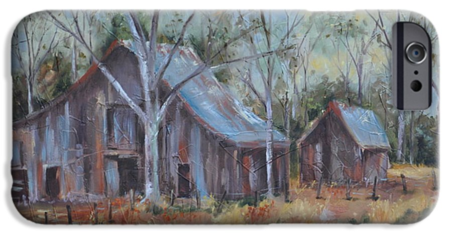 Barns IPhone 6 Case featuring the painting If They Could Speak by Ginger Concepcion