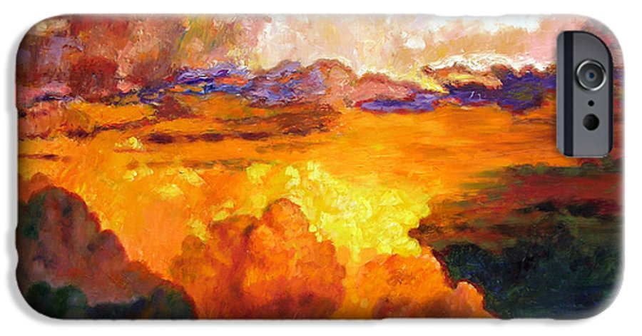 Clouds IPhone 6 Case featuring the painting Ill Fly Away O Glory by John Lautermilch
