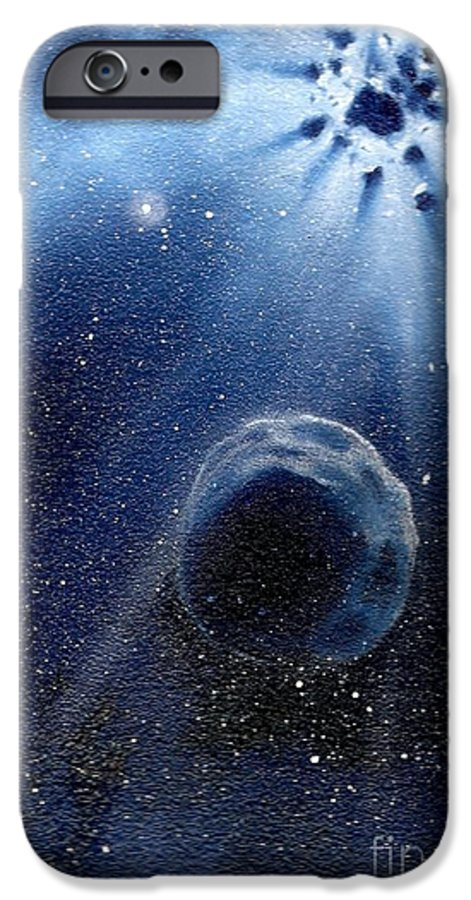 Outerspace IPhone 6 Case featuring the painting Impressive Impact by Murphy Elliott
