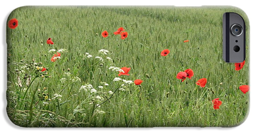 Lest-we Forget IPhone 6 Case featuring the photograph in Flanders Fields the poppies blow by Mary Ellen Mueller Legault