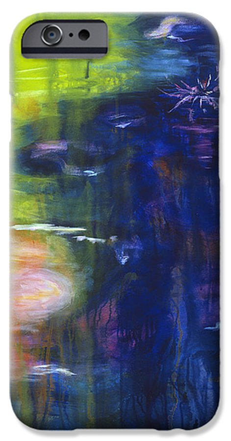 Abstract IPhone 6 Case featuring the painting In The Flow by Tara Moorman