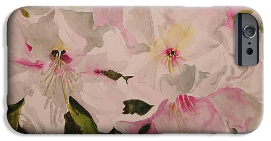 Pink IPhone 6 Case featuring the painting In The Pink by Jean Blackmer