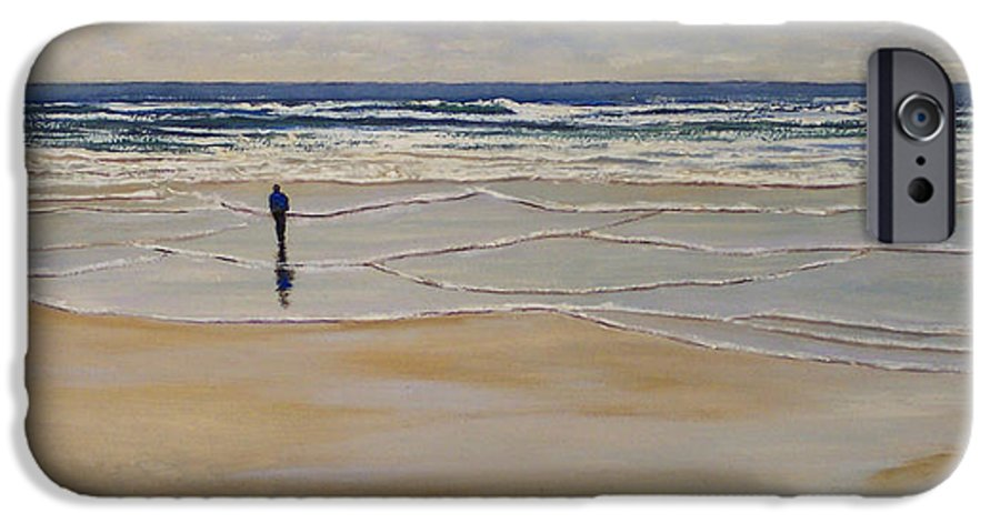 Beach Walk IPhone 6 Case featuring the painting Incoming Tide by Frank Wilson