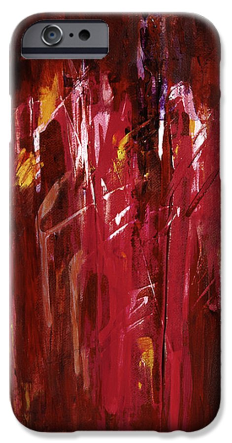 Abstract IPhone 6 Case featuring the painting Initiation by Tara Moorman