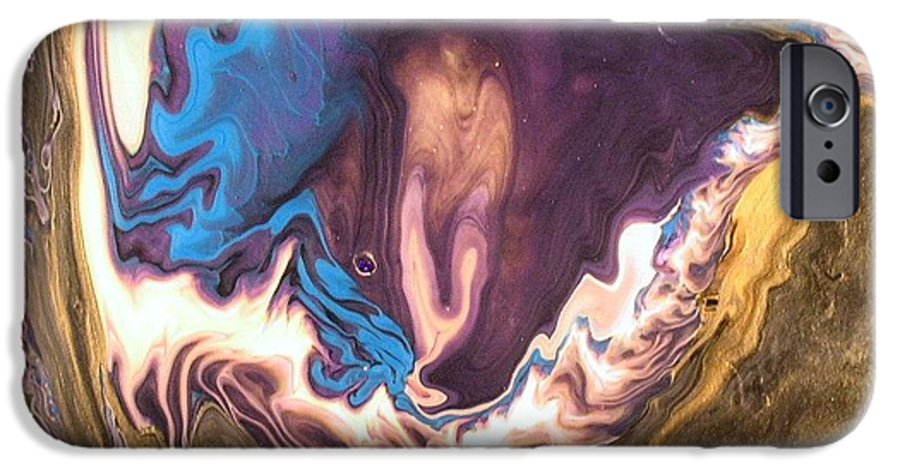 Abstract IPhone 6 Case featuring the painting Inner Flame by Patrick Mock