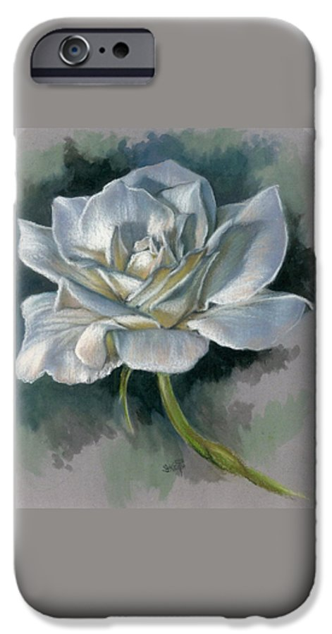 Rose IPhone 6 Case featuring the mixed media Innocence by Barbara Keith