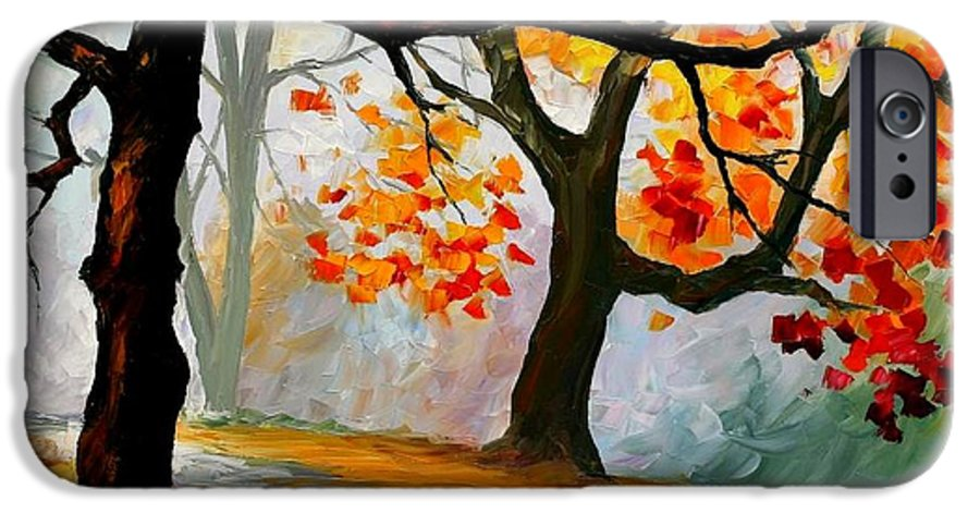 Landscape IPhone 6 Case featuring the painting Interplacement by Leonid Afremov