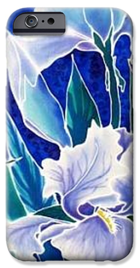 Iris IPhone 6 Case featuring the painting Iris by Francine Dufour Jones